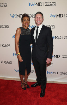 Good Morning America co-host Robin Roberts and Kevin Lacz Attend the WebMD Health Hero Awards Gala at TimesCenter on November 5, 2015
