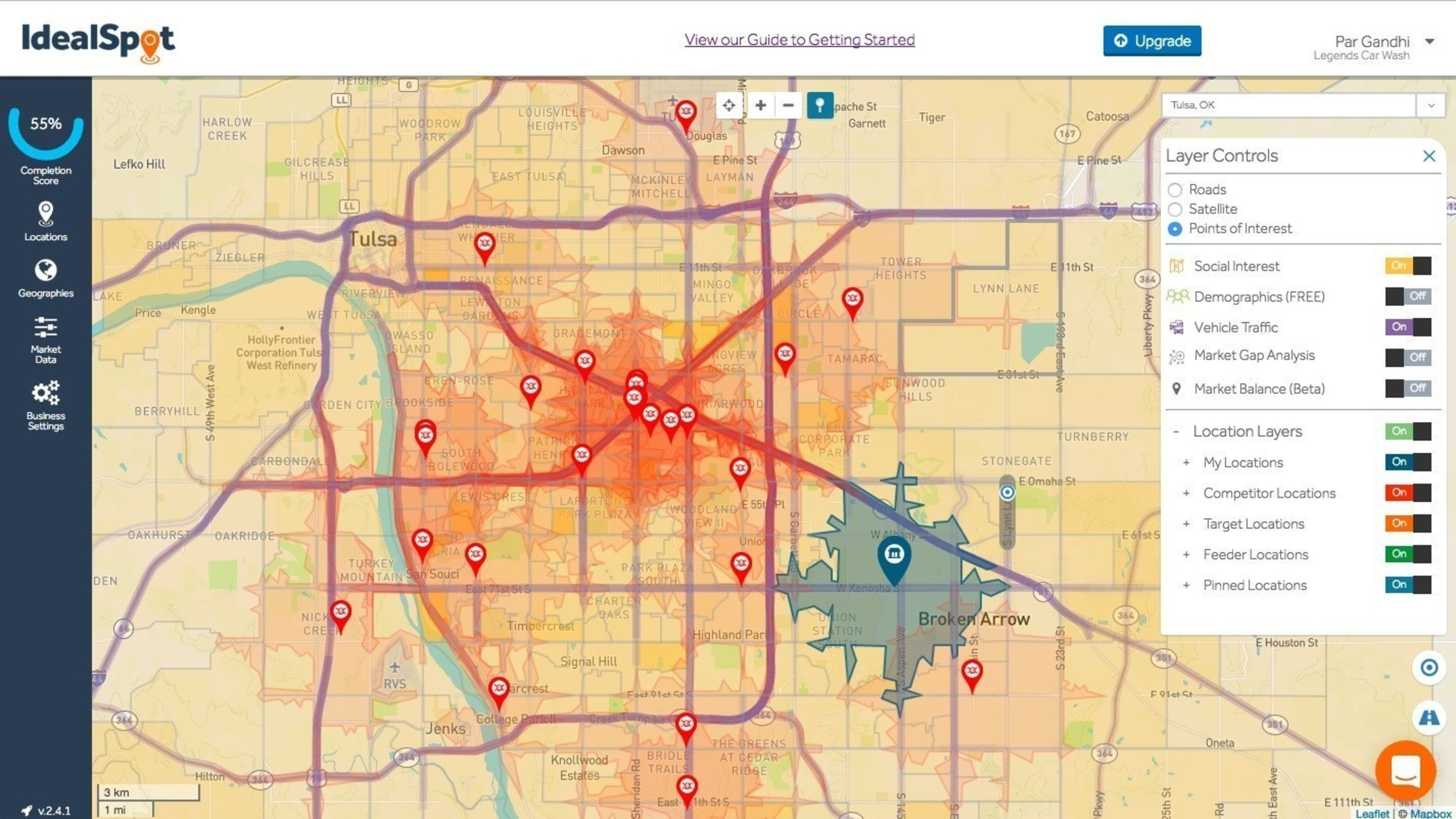 Idealspot Combines Industry Leading Traffic Data From Inrix With Geo