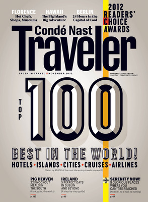 Conde Nast Traveler 25th Anniversary Readers' Choice Awards.  (PRNewsFoto/Conde Nast Traveler)