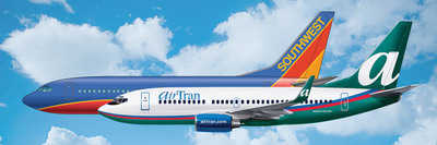 Two Great Airlines Join Forces: AirTran Airways Agrees to Acquisition by Southwest Airlines. (PRNewsFoto/AirTran Airways)