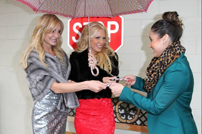 "Taylor Armstrong and Gretchen Rossi hand out $15 CIROC Vodka ""Safe Ride"" cards to help consumers get home safely on New Years Eve"
