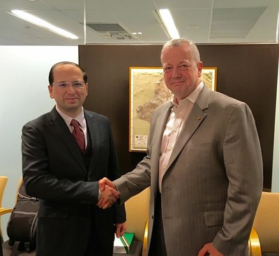 General John Allen, retired USMC, joins board of directors of SparkCognition.  Pictured with CEO Amir Husain