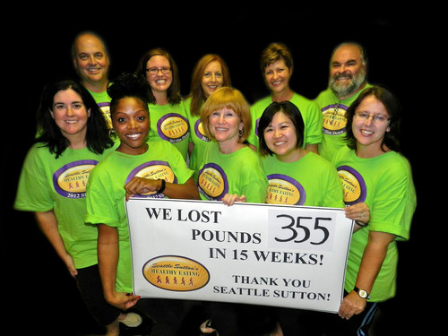 We lost 355 pounds in 15 weeks with Seattle Sutton's Healthy Eating!  (PRNewsFoto/Seattle Sutton's ...