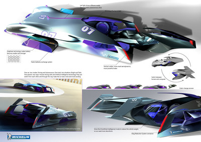 "Tao Ni of Wuhu, China, wins Michelin Challenge Design competition with entry ""Infiniti Le Mans 2030"""