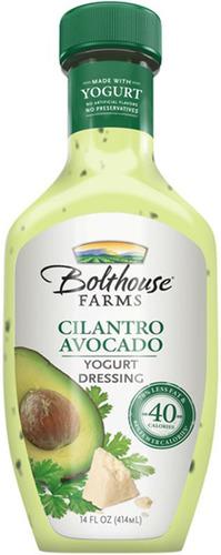 Bolthouse Farms Cilantro Avocado Yogurt Dressing.  (PRNewsFoto/Bolthouse Farms)