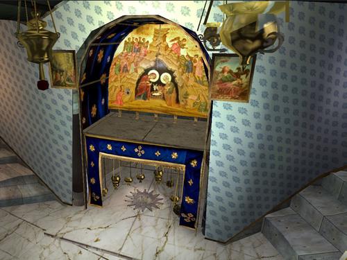 The nave of the Church of the Nativity.  (PRNewsFoto/Jerusalem.com)
