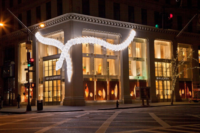 Bulgari's Fifth Avenue Holiday Installation in 2012.  (PRNewsFoto/Bulgari)