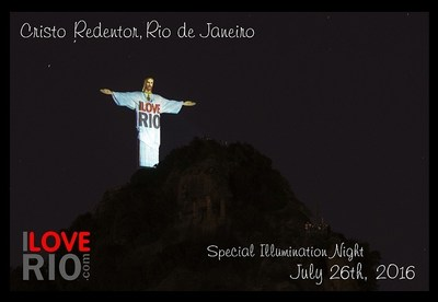 Christ the Redeemer Monument, Rio de Janeiro, Brazil - Special Illumination Night for ILOVERIO.COM