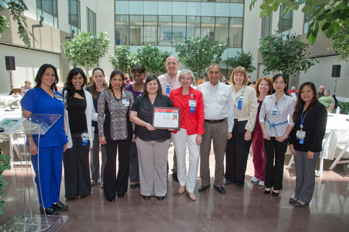 The American Heart Association presented Dr. Amy Naquin-Chappel and the Stroke Team from Houston Methodist ...