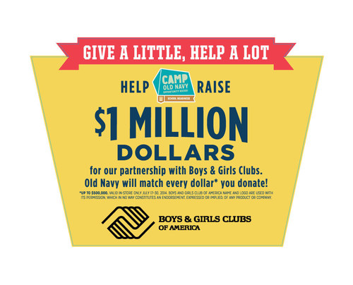 Old Navy Supports Boys & Girls Clubs of America through National Donation Drive (PRNewsFoto/Boys & Girls Clubs of America)