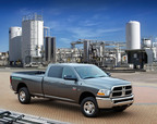Ram 2500 Heavy Duty CNG with bi-fuel capability - powered by compressed natural gas or gasoline. (PRNewsFoto/Chrysler Group LLC)