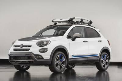 The Fiat 500X Mobe is among the Mopar-modified vehicles showcased at SEMA 2015.
