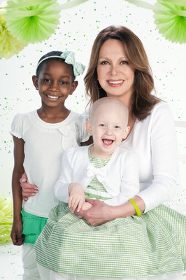 Marlo Thomas, St. Jude National Outreach Director, and patients Gloriuna and Haley star in the Thanks and Giving campaign, a holiday program that supports the research and treatment being done at St. Jude Children's Research Hospital to help children fighting cancer and other catastrophic diseases. The Thanks and Giving campaign kicks off Thanksgiving week and runs through the end of the year.  (PRNewsFoto/St. Jude Children's Research Hospital)