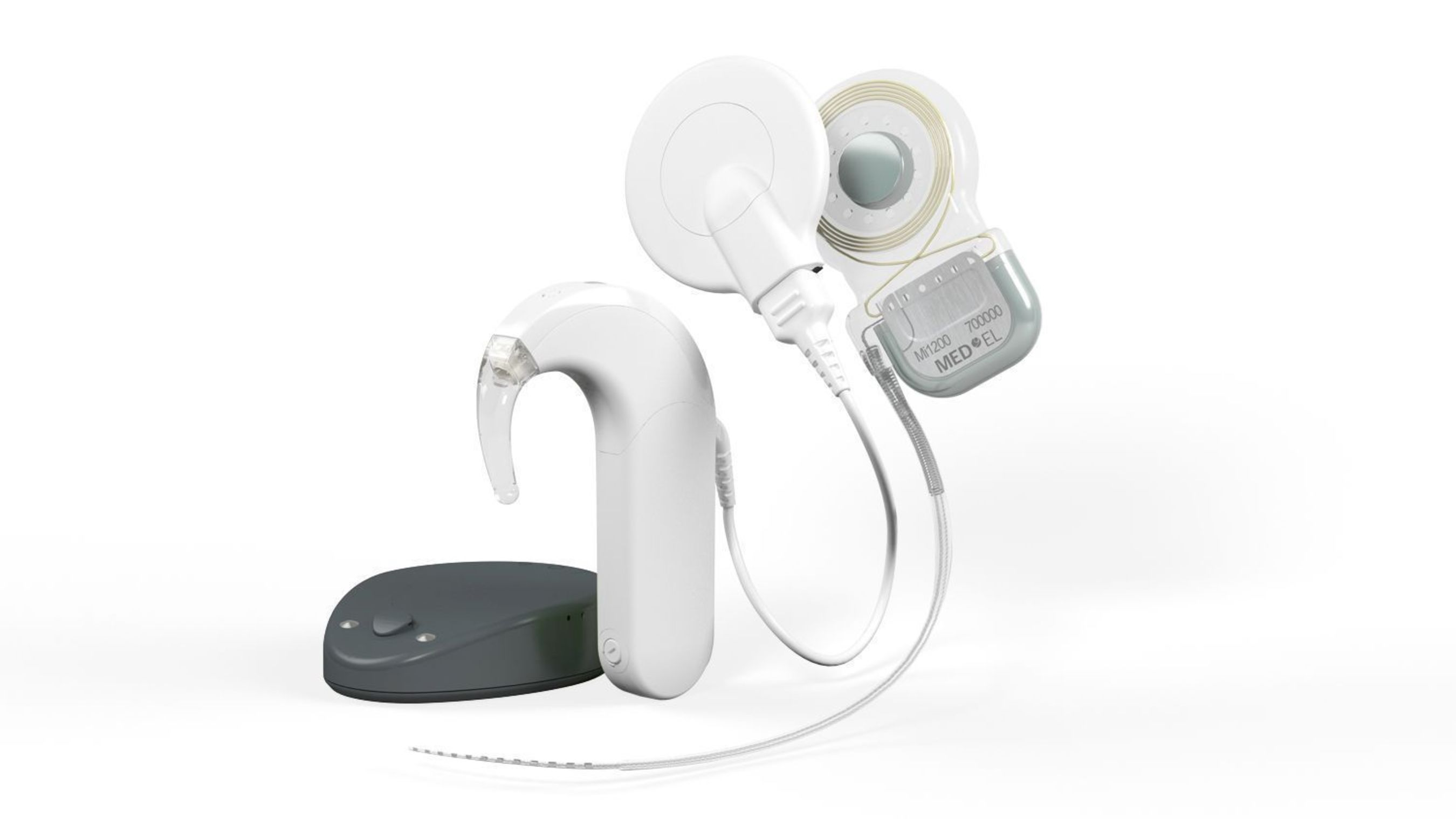The SYNCHRONY implant system is MED-EL's latest cochlear implant system, offering the greatest MRI safety possibilities currently available on the cochlear implant market. The cochlear implant was, and remains, the first replacement of a human sense: the sense of hearing. (PRNewsFoto/MED-EL)