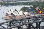 26/1/2014. Australia Day Sydney. Sydney Celebrates Australia Day on Sydney Harbour - Sydney Opera House and Harbour Bridge. Credit: Ethan Rohloff / Destination NSW (PRNewsFoto/Destination NSW) (PRNewsFoto/DESTINATION NSW)