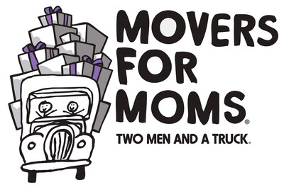 TWO MEN AND A TRUCK Movers for Moms logo.