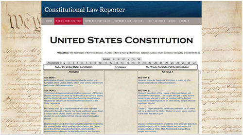 Scarinci Hollenbeck Constitutional Law Reporter screenshot.(PRNewsFoto/Scarinci Hollenbeck)