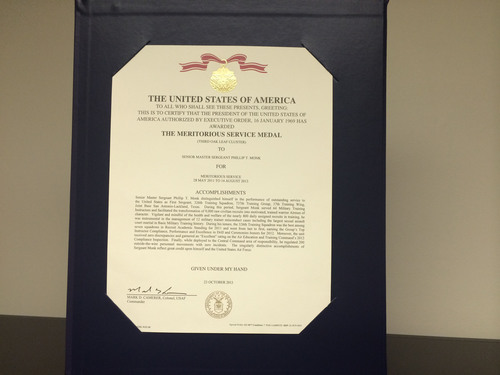 The U.S. Air Force awarded Senior Master Sergeant Phillip Monk - who filed complaints that his former commander  ...