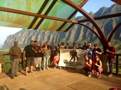 Wounded veterans take in the sites of Kualoa Ranch in Oahu