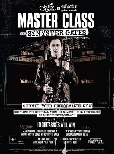 Synyster Gates Of Avenged Sevenfold Partners With Guitar Center And Schecter Guitars To Launch Master Class With Synyster Gates.  (PRNewsFoto/Guitar Center)