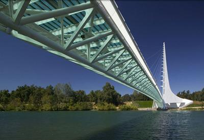 Redding CA's Sundial Bridge celebrates its 10th anniversary in style.  (PRNewsFoto/Visit Redding)
