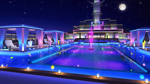 A rendering of the new Night Sky Lounge hints at the evening experience onboard Regal Princess this fall. (PRNewsFoto/Princess Cruises)