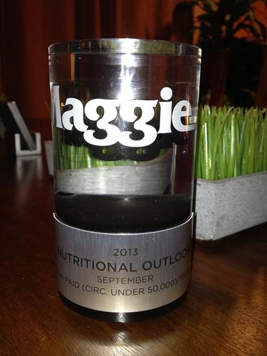 Nutritional Outlook Magazine Wins 2013 MAGGIE Award!  (PRNewsFoto/UBM Canon/Nutritional Outlook)