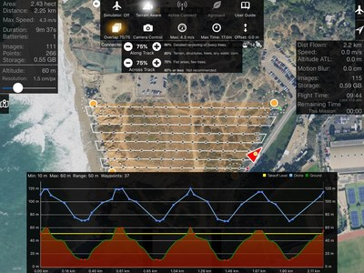 Map Pilot for DJI helps to maintain a constant distance from the ground to ensure the best possible results.