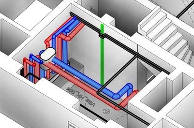 PointSense for Revit 17.5 MEP pipe run modeling