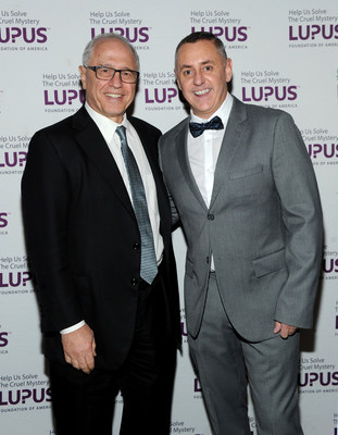 Richard A. Rosenbaum, Executive Chairman, GreenbergTraurig, LLP (left) Tim Nolan,Executive Creative Director, A+E Networks; (right) and Ian Harding, star of Pretty Little Liars (not pictured) and Celebrity Awareness Ambassador were honored for their efforts in the fight against lupus to end its devastating impact on millions of families during the Lupus Foundation of America's National Gala inNew York City on October 20.