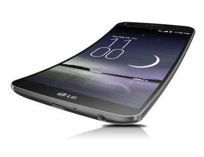World's First Curved, Flexible Smartphone - LG G Flex with Android KitKat 4.4 and Knock Code. Photo credit: LG Electronics USA. (PRNewsFoto/LG Electronics USA)