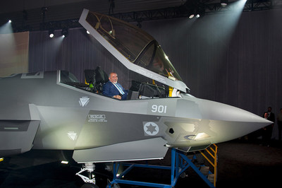 "Israel's Minister of Defense Avigdor Liberman views the cockpit of the first Israeli Air Force (IAF) F-35A Lightning II, known as the ""Adir,"" meaning ""Mighty One"" in Hebrew, at the Lockheed Martin F-35 production facility in Fort Worth, Texas, June 22.Lockheed Martin photo by Beth Steel"