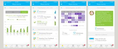 Tabtor Math, Parent Insight App