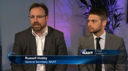 NAHT General Secretary Russell Hobby and Chief Executive of NAHT Edge Louis Coiffait (PRNewsFoto/ITN Productions)