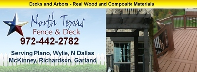 Custom fences and wooden fences by North Texas Fence and Deck 972-442-2782 (PRNewsFoto/North Texas Fence and Deck)