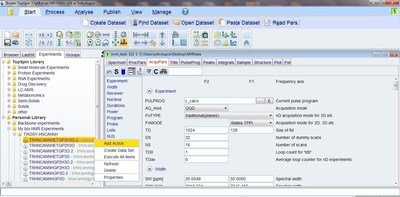 Bruker's Experiment Selector - The new user friendly GUI provides easy access to vast experiment libraries