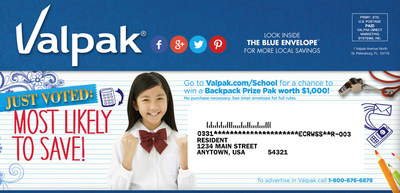 As Parents Ramp Up for Back to School Season, Valpak Offers BackPack Giveaway