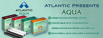 GreenSmoke products and refills nowhere to be found in the UK and Europe? Atlantic Aqua Electronic Cigarettes can help! With full GreenSmoke compatibility and virtually identical flavors, find out why Atlantic Aqua is winning over ex-GreenSmoke customers in droves. (PRNewsFoto/Atlantic Vapor)