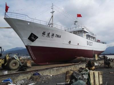 Backebåt för tonfiskfiske
