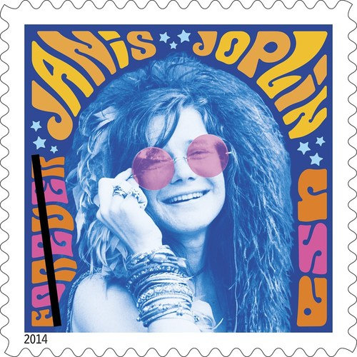 The U.S. Postal Service unveiled the Limited-Edition Janis Joplin Forever stamp at the Outside Lands Music Festival in San Francisco on August 8, 2014. (PRNewsFoto/U.S. Postal Service)