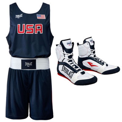 2012 USA Olympic Boxing Competition Outfit and Footwear Designed By Everlast.  (PRNewsFoto/Everlast Worldwide Inc.)