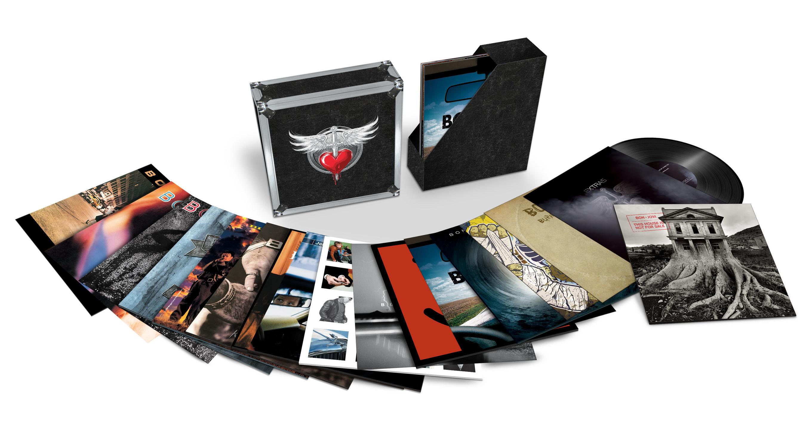 Bon Jovi's Massive, Career-Spanning, 17-Album Vinyl Box Set, 'Bon Jovi: The Albums,' Can Be Pre-ordered Now For Its February 2017 Release