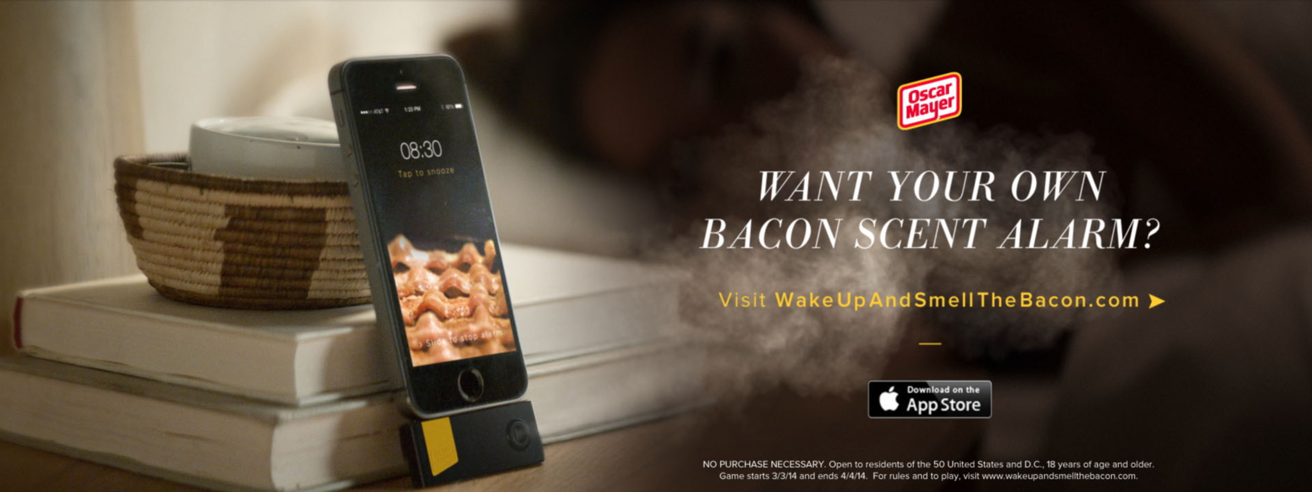 The Oscar Mayer Wake Up & Smell The Bacon iPhone Device.  (PRNewsFoto/Kraft Foods Group, Inc.)