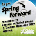 "As Americans prepare to ""spring forward"" to daylight saving time this weekend, Kidde reminds you to replace outdated smoke and carbon monoxide (CO) alarms."