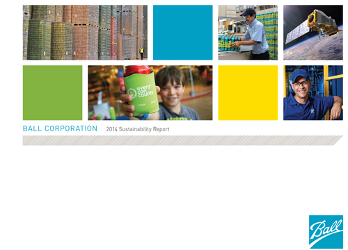 Ball Corporation Releases 2014 Sustainability Report (PRNewsFoto/Ball Corporation)