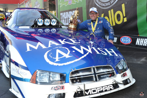 Mopar driver Tommy Johnson Jr. earns NHRA Funny Car win at Bristol Dragway in DSR Dodge Charger R/T ...