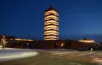 SC Johnson lights Frank Lloyd Wright Research Tower marking winter solstice.  (PRNewsFoto/SC Johnson)