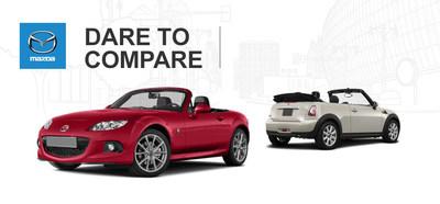 2014 Mazda MX-5 Miata vs. 2014 Mini Cooper (PRNewsFoto/Beach Mazda)