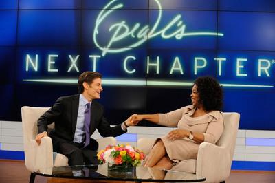 Dr. Oz interviews his friend and television mentor Oprah Winfrey on Dec. 7. (PRNewsFoto/The Dr. Oz Show, Barbara Nitke)
