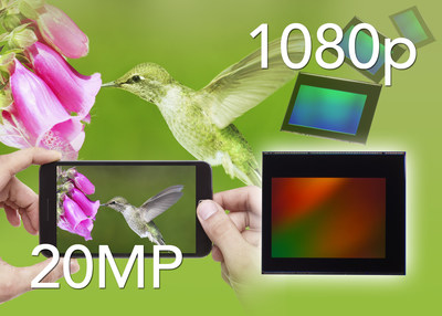 Toshiba's T4KA7 20-megapixel CMOS image sensor enables high-end camera modules with height of less than 6 mm for thinner mobile devices. (PRNewsFoto/Toshiba America Electronic)